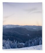 Snow Covered Trees On A Hill, Belchen Fleece Blanket