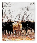 Snow Cows II Fleece Blanket