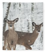 Snow Deer Fleece Blanket