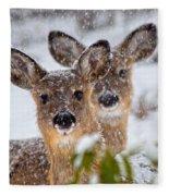 Snow Does Fleece Blanket