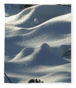 Snow Dunes Fleece Blanket