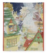 Snow Fairy Fleece Blanket