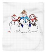 Snow Family Fleece Blanket