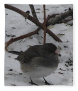 Snow Finch Fleece Blanket