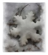 Snow Flake 01 Photo Art Fleece Blanket