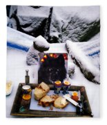 Snow Flake And Colette Winter Snow Lunch Fleece Blanket