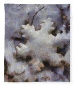 Snow Flake Enjoy The Beauty Photo Art Fleece Blanket