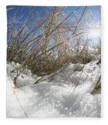 Snow Grass Fleece Blanket