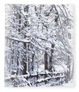 Snow-img-2174-merry Christmas Fleece Blanket