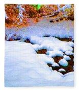 Snow In Color Fleece Blanket