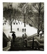 Snow In London Fleece Blanket