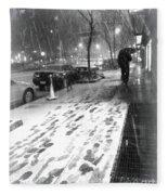 Snow In The City Fleece Blanket