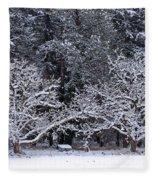 Snow In The Valley Fleece Blanket