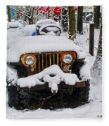 Snow Jeep Fleece Blanket