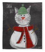 Snow Kitten Fleece Blanket