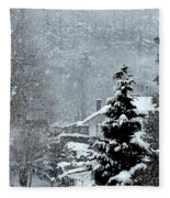 Snow Landscape Fleece Blanket
