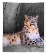 Snow Leopard II Fleece Blanket