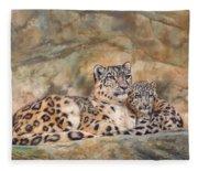 Snow Leopards Fleece Blanket