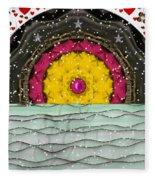 Snow Love Pop Art Fleece Blanket