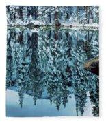 Snow Mirror Fleece Blanket