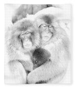 Snow Monkey Character Study Vi Fleece Blanket