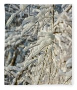 Snow On Ice Fleece Blanket