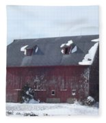 Snow On Roof Fleece Blanket