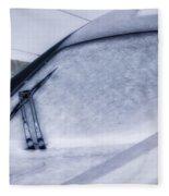 Snow On The Train Fleece Blanket