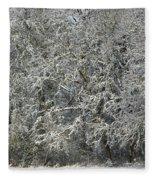 Snow On Trees Fleece Blanket
