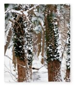 Snow On Tress 2 Fleece Blanket