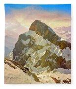 Snow Peaks Of Mount Titlis Fleece Blanket