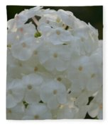Snow Phlox Fleece Blanket