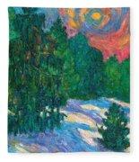 Snow Pines Fleece Blanket