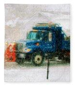 Snow Plow Painterly Fleece Blanket