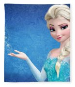Snow Queen Elsa Frozen Fleece Blanket