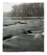 Snow Rapids Fleece Blanket