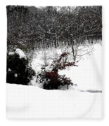 Snow Scene 6 Fleece Blanket
