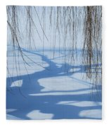 Snow Shadows I Fleece Blanket