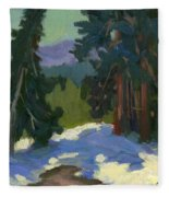 Snow Shadows Mammoth Mountain Fleece Blanket