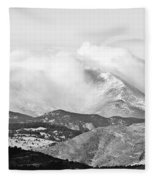 Snow Storm On The Twin Peaks Longs And Meeker Fleece Blanket