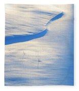 Snow Sunlight And Shadows Fleece Blanket