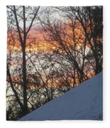 Snow Sunset Fleece Blanket