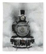 Snow Train Fleece Blanket