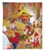 Snow White And The Seven Dwarfs Fleece Blanket