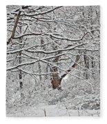 Snow White Forest Fleece Blanket