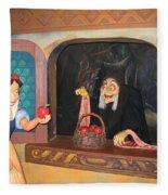 Snow White With Apple Fleece Blanket