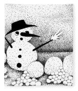 Snowball Fight Fleece Blanket