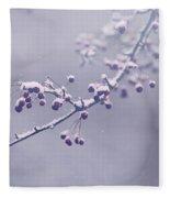Snowberries Fleece Blanket