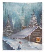 Snowbound Holiday Fleece Blanket
