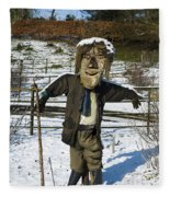 Snowcapped Scarecrow Fleece Blanket